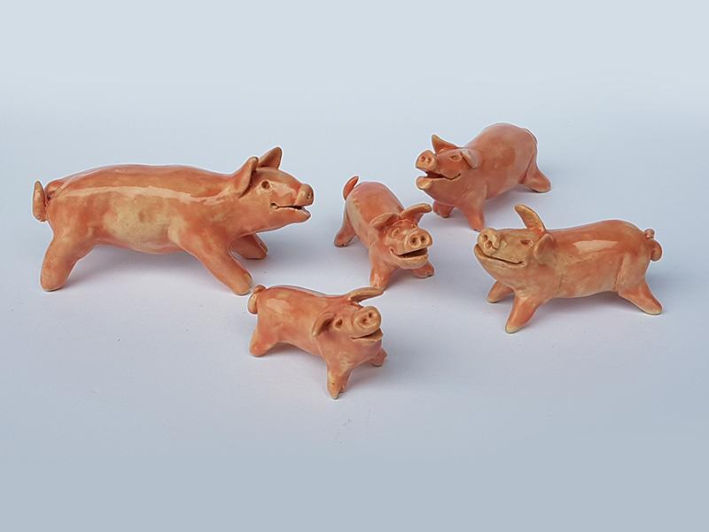Schweinchen aus Ton